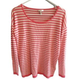 || JOIE || Pink & White Striped Sweater Top XS